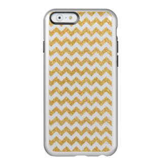 Elegant White Gold Glitter Zigzag Chevron Pattern Incipio Feather® Shine iPhone 6 Case