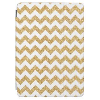 Elegant White Gold Glitter Zigzag Chevron Pattern iPad Air Cover