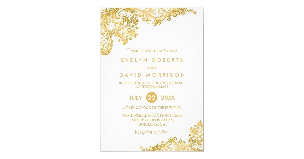 Elegant Wedding Invitations & Announcements | Zazzle CA