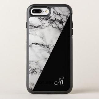 Elegant White Gray And Black Marble Stone OtterBox Symmetry iPhone 7 Plus Case