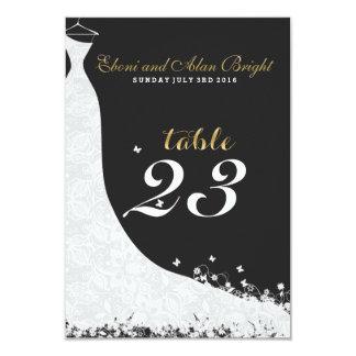 "Elegant White Lace Wedding Dress Table 23 3.5"" X 5"" Invitation Card"