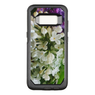 Elegant white lilac blossom photo OtterBox commuter samsung galaxy s8 case
