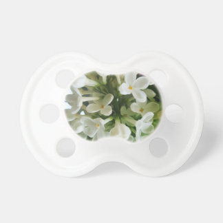 Elegant white lilac blossom photo pacifier