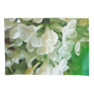 Elegant white lilac blossom photo pillowcase