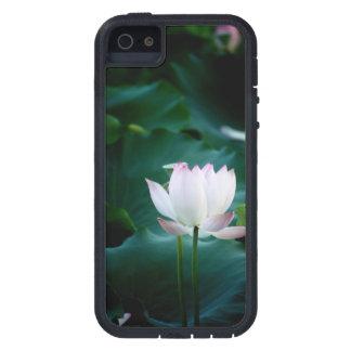 Elegant white Lotus Flower Case For The iPhone 5