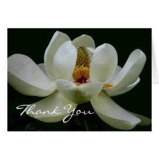 Elegant White Magnolia Thank You Card