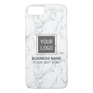 Elegant White Marble Corporate Custom Logo iPhone 8/7 Case