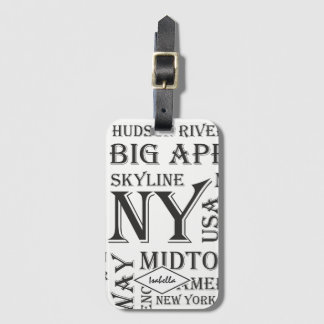 Elegant White New York Luggage Tag