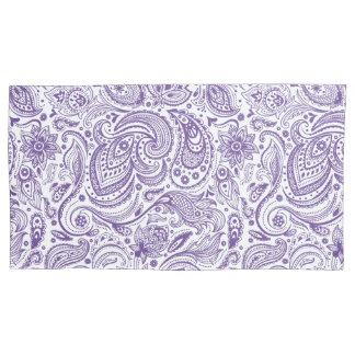 Elegant White & Purple Floral Paisley Pillowcase