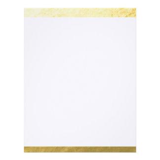 Elegant White Stripes Gold Foil Printed Letterhead Design
