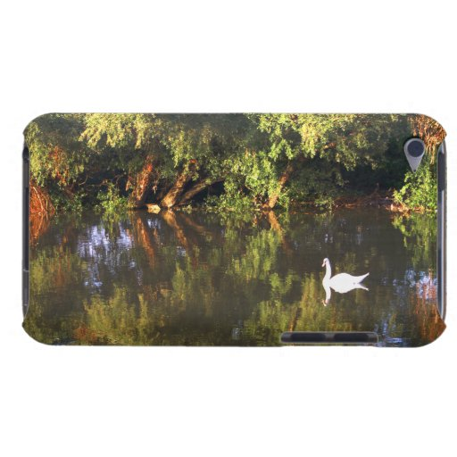 Elegant  White Swan on Lake - Nature Photography Barely There iPod Cases