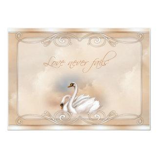 Elegant White Swan Wedding Invitations