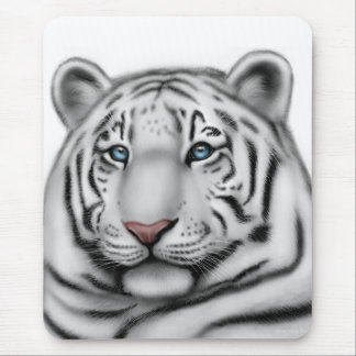 Elegant White Tiger Mousepad