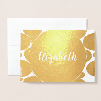 Elegant Will You Be My Bridesmaid or Maid Of Honor Foil Card