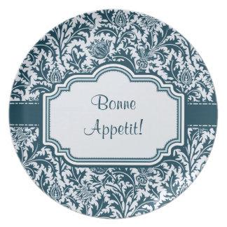 Elegant William Morris Floral Thistle Pattern Plates
