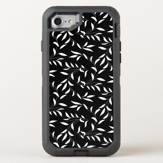 Elegant Willow Pattern Black and White OtterBox Defender iPhone 7 Case