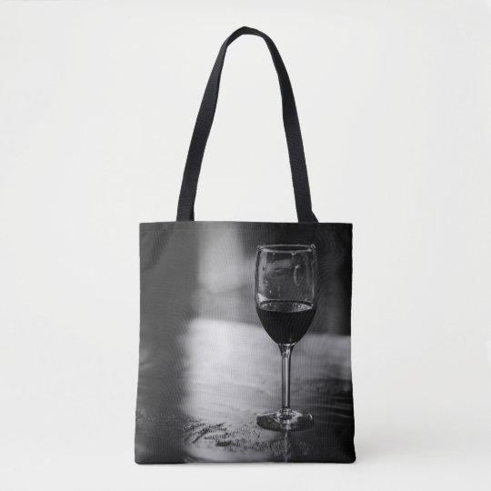 Elegant Wine Lover's Tote Bag