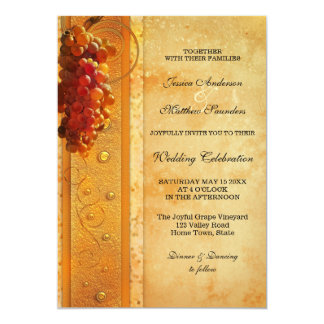 Elegant Wine or Vineyard Theme Wedding Invitation