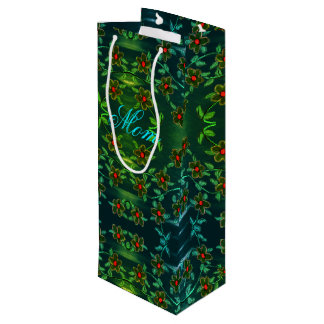 Elegant Wine Sized Gift Bag For Mom