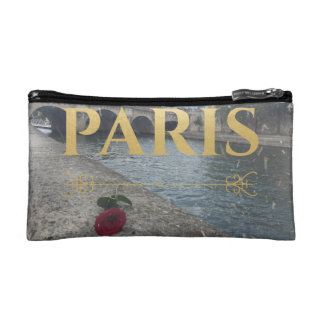 elegant winter in paris cosmetic bag