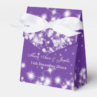 Elegant Winter Sparkle Purple Favor Box