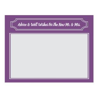 Elegant Wishes For Bride & Groom, Wedding Advice Postcard