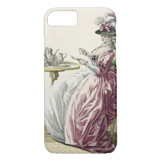 Elegant Woman in a Dress 'a l'Anglaise' Drinking C iPhone 7 Case