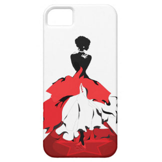 Elegant woman silhouette on red carpet with stars case for the iPhone 5