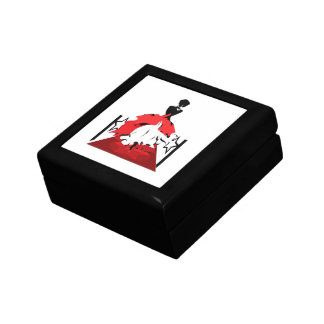 Elegant woman silhouette on red carpet with stars gift box