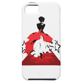 Elegant woman silhouette on red carpet with stars iPhone 5 cases