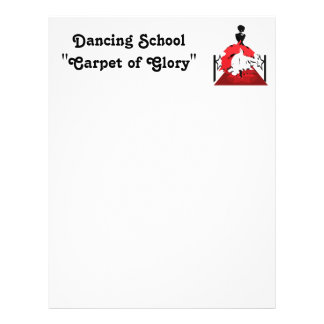 Elegant woman silhouette on red carpet with stars letterhead