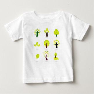 Elegant wonderful green Trees Baby T-Shirt