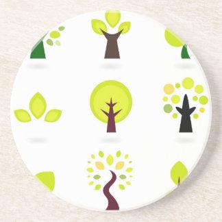 Elegant wonderful green Trees Coaster