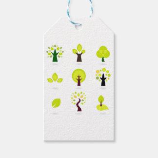 Elegant wonderful green Trees Gift Tags