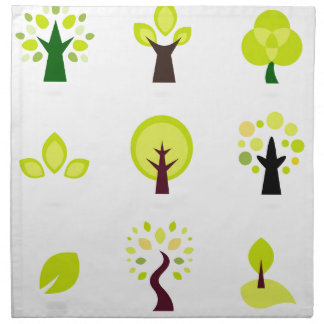 Elegant wonderful green Trees Napkin