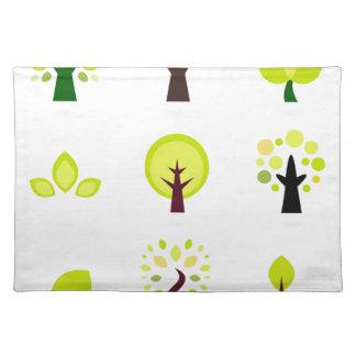 Elegant wonderful green Trees Placemat