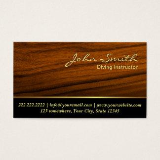 Elegant Wood Grain Diving Business Card