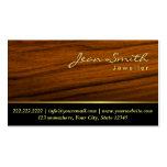 Elegant Wood Grain Jewellery Business Card