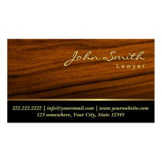 Elegant Wood Grain Lawyer Business Card