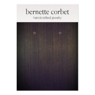 Elegant Wood Soft Silver Earring Display Card Large Business Card