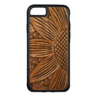 Elegant Wooden Sunflower Carving Carved® Wood Carved iPhone 8/7 Case