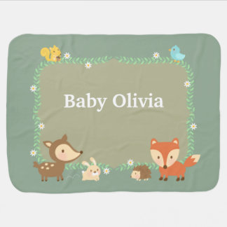 Elegant Woodland Animal For Babies Baby Blanket