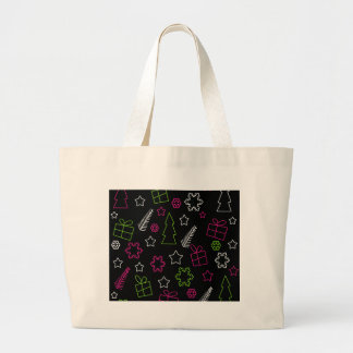 Elegant Xmas pattern Large Tote Bag