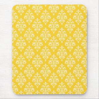 Elegant Yellow Damask Mousepad