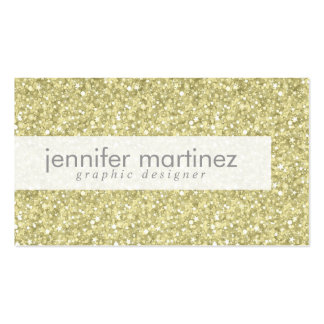 Elegant Yellow Gold Tones Glitter & Sparkles 2 Pack Of Standard Business Cards