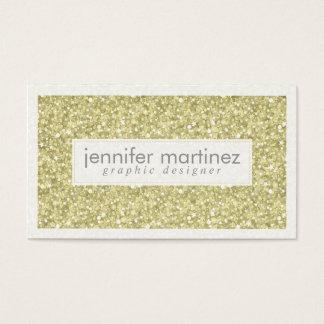 Elegant Yellow Gold Tones Glitter & Sparkles 3 Business Card