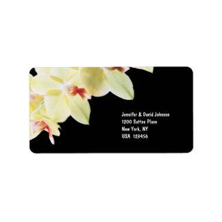 Elegant Yellow Orchids Address Label