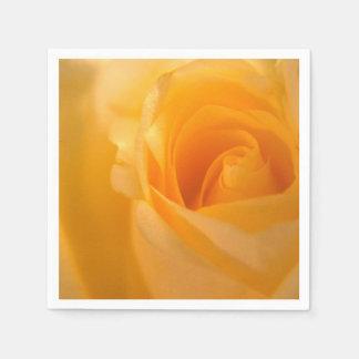 Elegant Yellow Rose Bud Paper Napkin