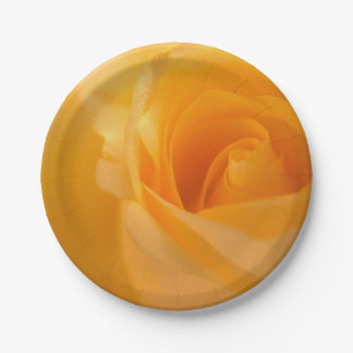 Elegant Yellow Rose Bud Paper Plate
