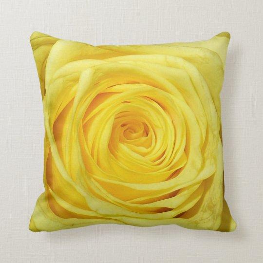 Elegant Yellow Rose Collection Throw Pillow